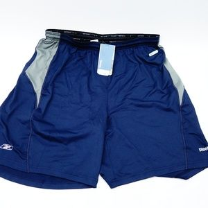 New Reebok Mens Speedwick Navy Shorts